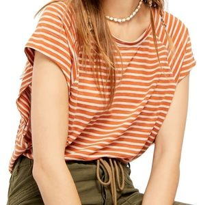 NEW FREE PEOPLE Halo Cap Sleeve T-Shirt si…